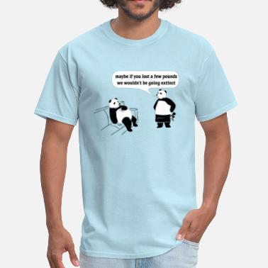 Passive Aggressive Panda Extinction - Men's T-Shirt