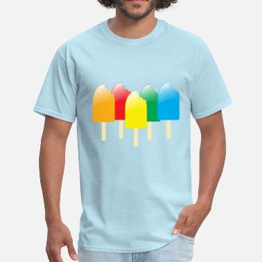 Ice Pops ice pops in a row - Men's T-Shirt