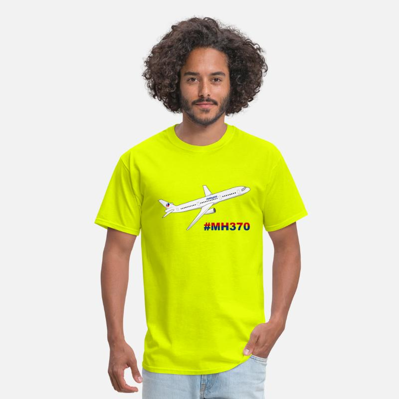 Malaysia Airlines MH370 Men's T-Shirt - safety green