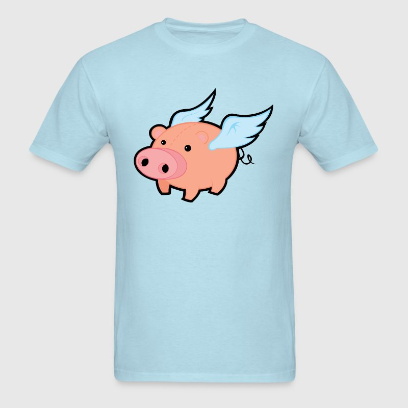 Pig with Wings - Men's T-Shirt