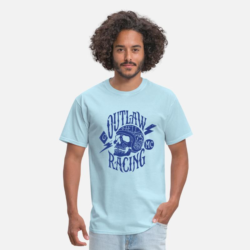 Bikes And Cars Collection T-Shirts - Outlaw Racing - Men's T-Shirt powder blue