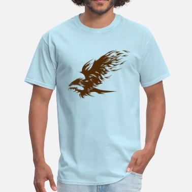 Fire Hawk Attacking Hawk - Men's T-Shirt