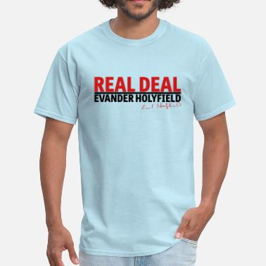 Evander Holyfield Real Deal Evander Holyfield w/ sig mp - Men's T-Shirt