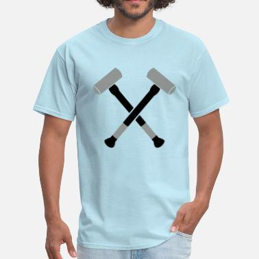 Sledgehammer double crossed crossbones two sledgehammer hammers - Men's T-Shirt