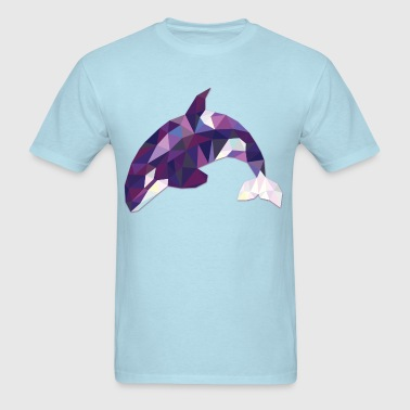 Polygonal Orca - Men's T-Shirt