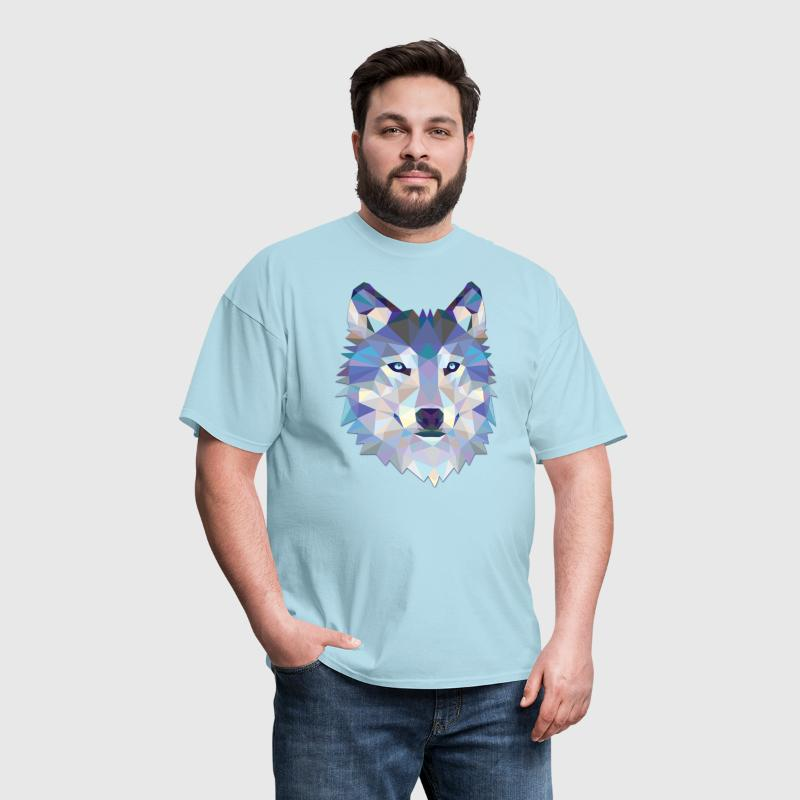 Polygonal Wolf - Men's T-Shirt