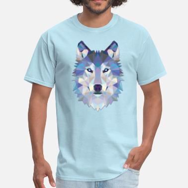 Polygon Polygonal Wolf - Men's T-Shirt