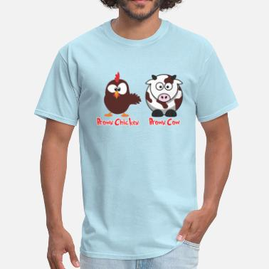Cow Chicken Brown Chicken Brown Cow - Men's T-Shirt