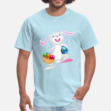 Easter easter bunny with basket of eggs - Men's T-Shirt