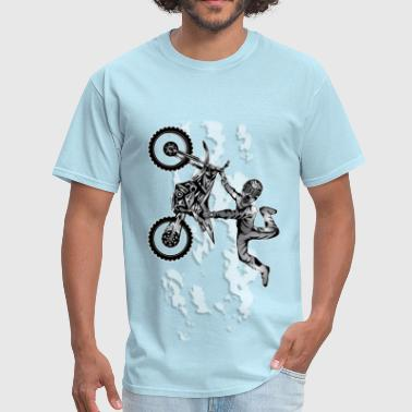 Dirt Biking Sky Flier - Men's T-Shirt