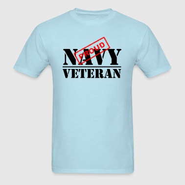 Proud Navy Veteran - Men's T-Shirt
