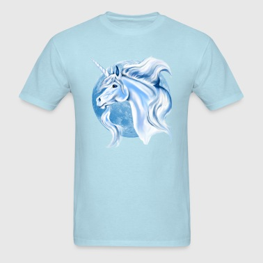 Sky Blue and White Unicorn - Men's T-Shirt
