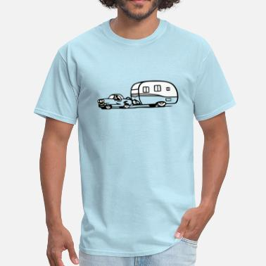 Camper Trailer vintage trailer car retro shasta camper - Men's T-Shirt