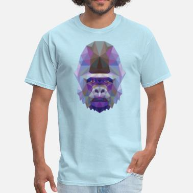 Polygonal Animal Polygonal Gorilla - Men's T-Shirt