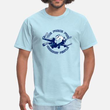 X-wing Fighter X-wing fighter ordinary people blue - Men's T-Shirt