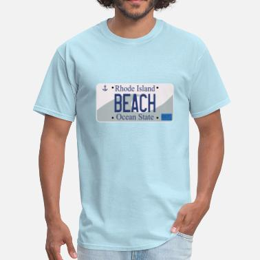 Rhode Island RI License Plate Series - BEACH - Men's T-Shirt