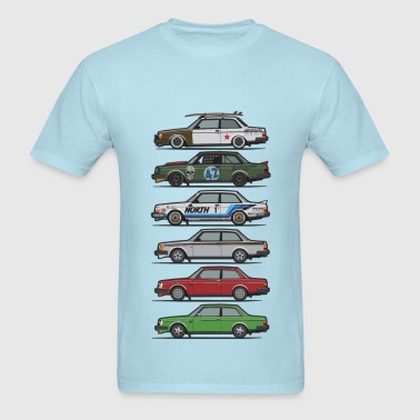 Stack of Volvo 240 Series 242 Brick Coupes - Men's T-Shirt