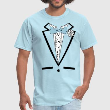 Dumb Vintage Blue Tuxedo Tux T Shirt - Men's T-Shirt
