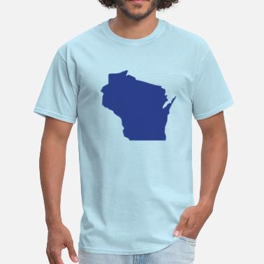 Wisconsin State Map State Wisconsin - Men's T-Shirt