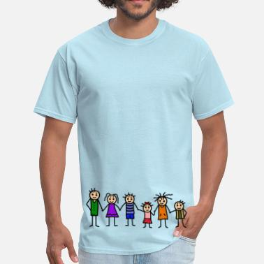 Blended Family large family - patchwork family - colorful - Men's T-Shirt
