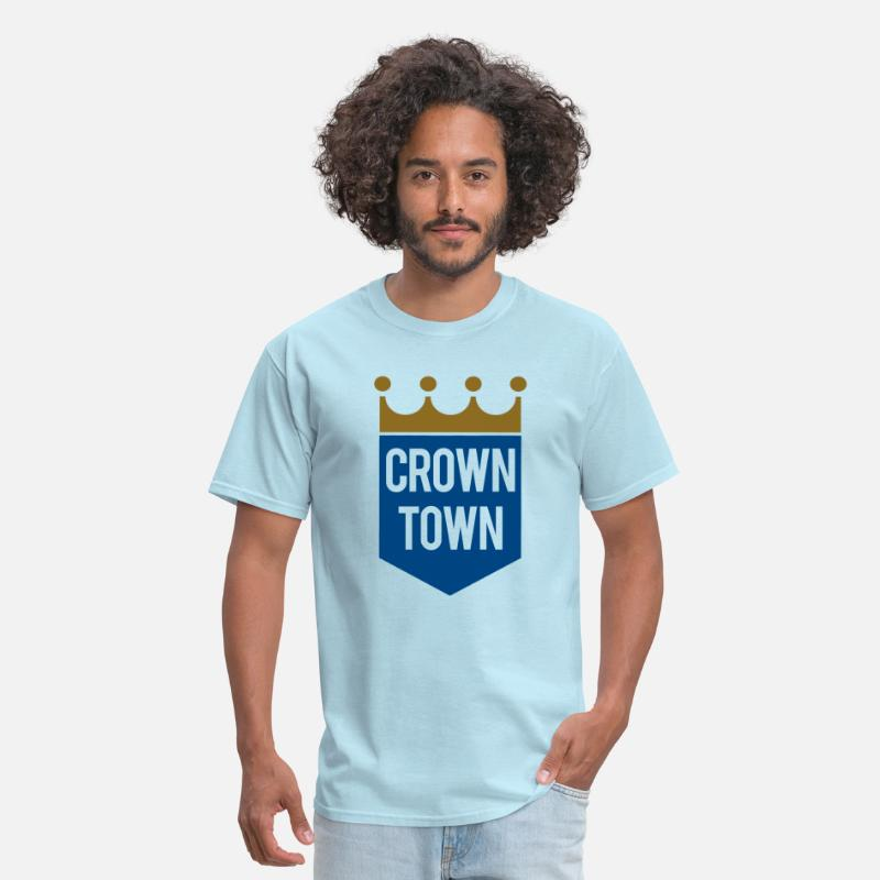 Crown T-Shirts - Crown Town - Men's T-Shirt powder blue