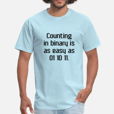 Counting Jokes Counting In Binary - Men's T-Shirt