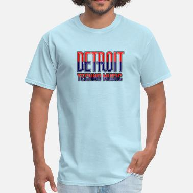 Detroit Techno Music - Men's T-Shirt