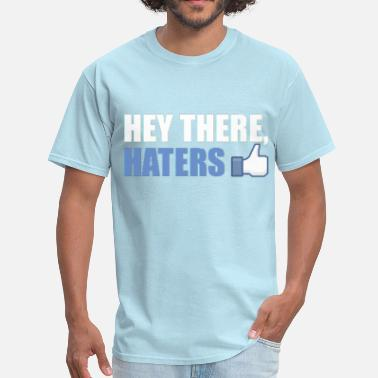 Facebook Like Thumb Up Hey, There Haters: cool facebook hipster thumbs up - Men's T-Shirt