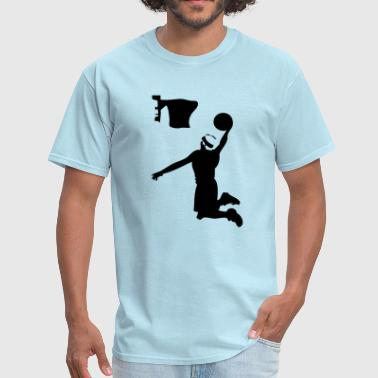 Jump Shot Basket Basketball player dunk shot -2 - Men's T-Shirt