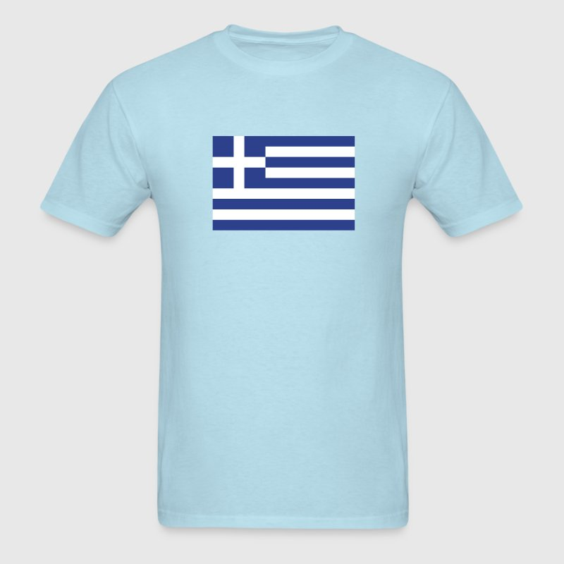 Greek flag - Men's T-Shirt