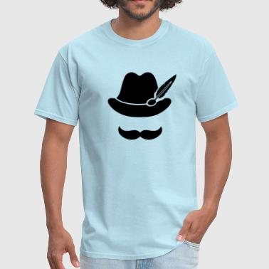 Cool Beard Clothing Cool Moustache (Hat) Oktoberfest Smiley - Outfit - Men's T-Shirt
