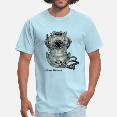 Helmet Vintage Helium Deep Sea Diving Helmet - Men's T-Shirt