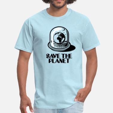 Globe Save The Planet World Snow Globe - Save the planet 2c - Men's T-Shirt