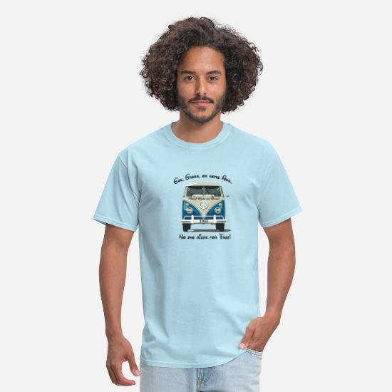 Grass T-Shirts - Gas, Grass, or some Ass...no one rides for free! - Men's T-Shirt powder blue