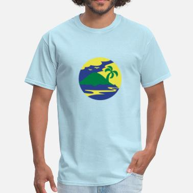 Holiday Island awesome island in a circle Holiday!!! - Men's T-Shirt