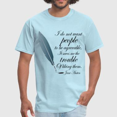 Jane Austen Book Quote - Men's T-Shirt