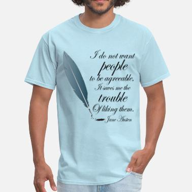 Jane Austen Quote Jane Austen Book Quote - Men's T-Shirt