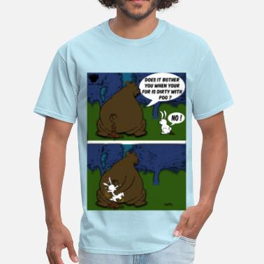 Paw Bear Paw When a Bear poos in the woods - Men's T-Shirt