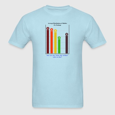 Skittles Color Distribution Infographic - Men's T-Shirt