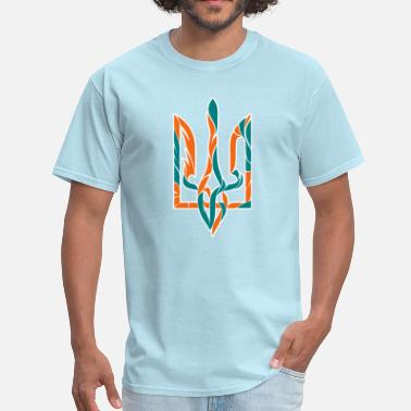 Ukrainian Trident Blue and yellow trident - Men's T-Shirt