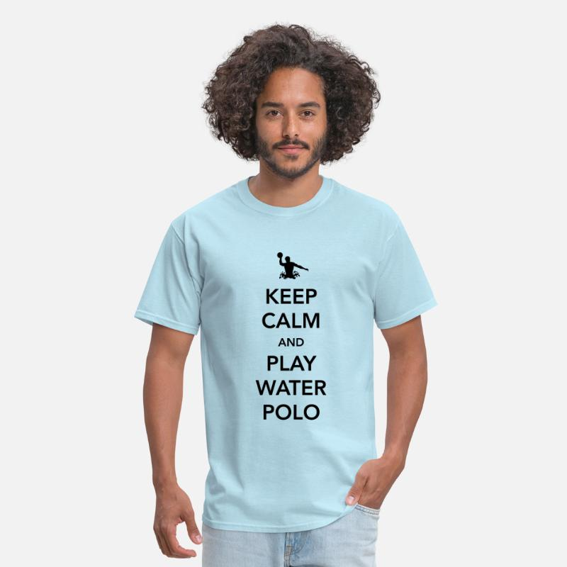 Keep Calm T-Shirts - Keep Calm and Play Water Polo - Men's T-Shirt powder blue