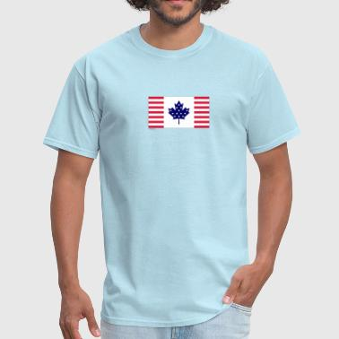 Canada USA Flag - Men's T-Shirt