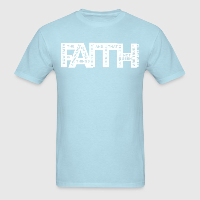 faith hebrews 11-1 - 1col - Men's T-Shirt