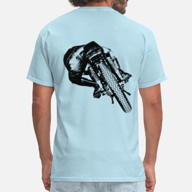 Classic Motorcycle Cafe Racer rear view for light material - Men's T-Shirt