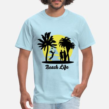 Beach Volleyball Beach Life - Men's T-Shirt