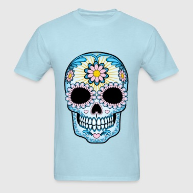 Colorful Sugar Skull - Men's T-Shirt