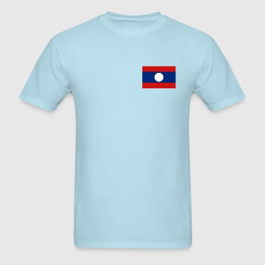 Laos Flag - Men's T-Shirt