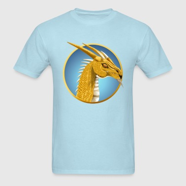 Gold Dragon Face  - Men's T-Shirt
