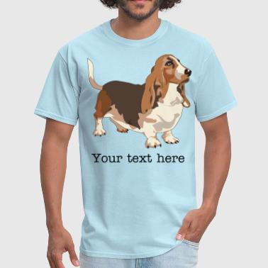 Basset Hound - HIGH QUALITY - Men's T-Shirt