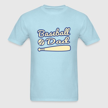 baseball dad with baseball and bat - Men's T-Shirt